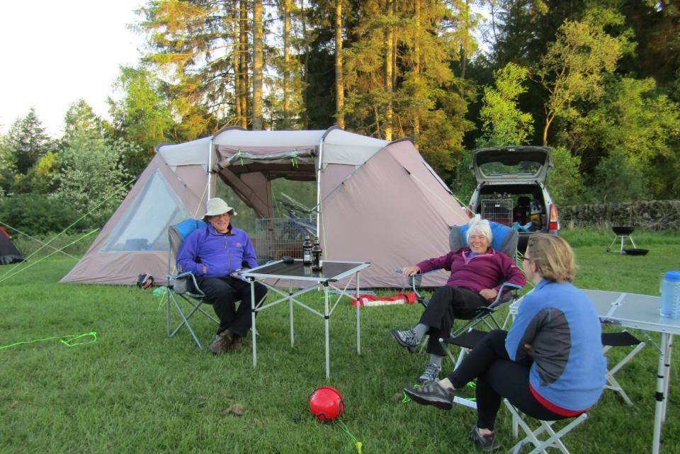 Camping at Barnsoul Caravan Park, South Scotland
