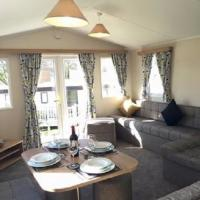 Living and dining area in 2017 Willerby Peppy II static caravan