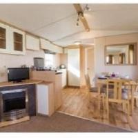 Living and dining area in 2011 Stellar Daybreak static caravan