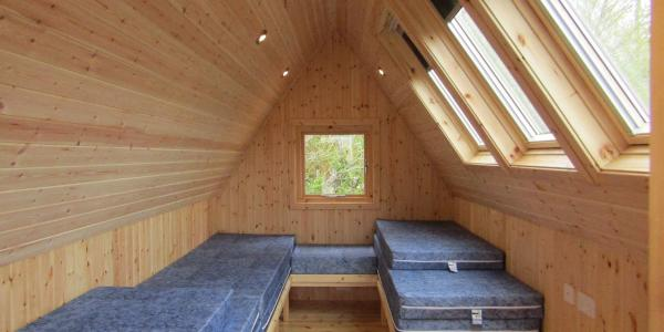 Inside a glamping star pod at Barnsoul