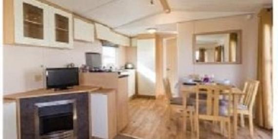 Living and dining area in 2011 Stellar Daybreak static caravan